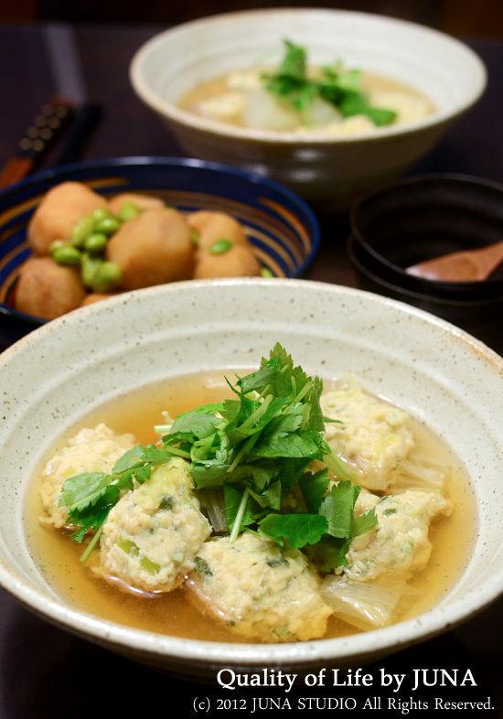 ふわふわとりたま団子スープ