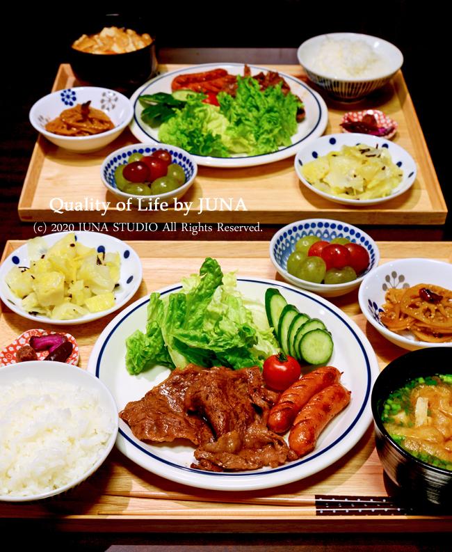 【父娘のための盆ごはん】簡単牛焼き定食/夜中にト・・・・