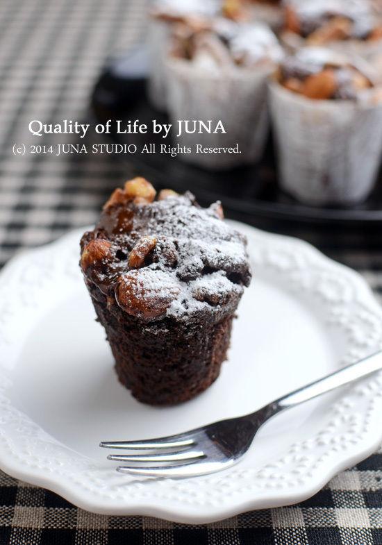 チョコカップケーキ(ミックス粉で簡単♪)