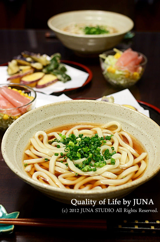 うどん+天ぷら少々