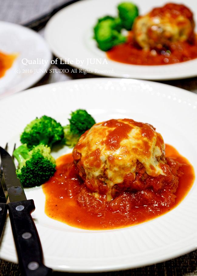 簡単トマトソースのハンバーグ と 金曜日からのお弁当