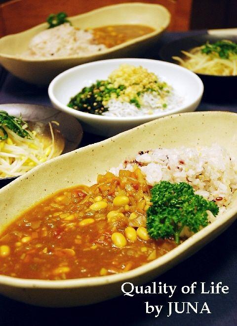 雑穀入りごはん&野菜たっぷり健康カレー