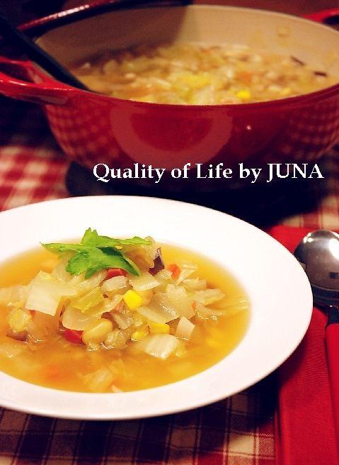 胃に優しい野菜スープ / 洋風な自家製チャーシュー??