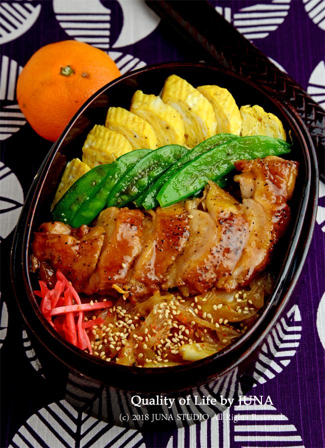 【今日のおべんと】鶏のはちみつバター焼き丼 と お弁当本の撮影の時の写真を少々・・・