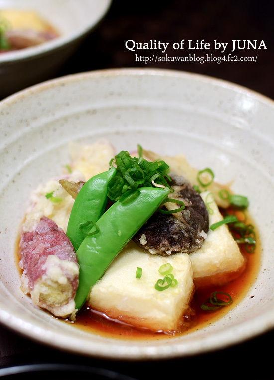 揚げだし豆腐&野菜