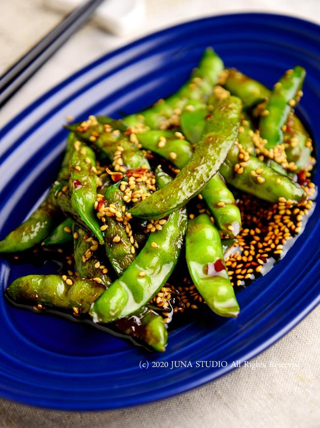 【静岡クッキングアンバサダー】今月のお野菜は新タマと砂糖えんどう/砂糖えんどうの豆板醤炒め