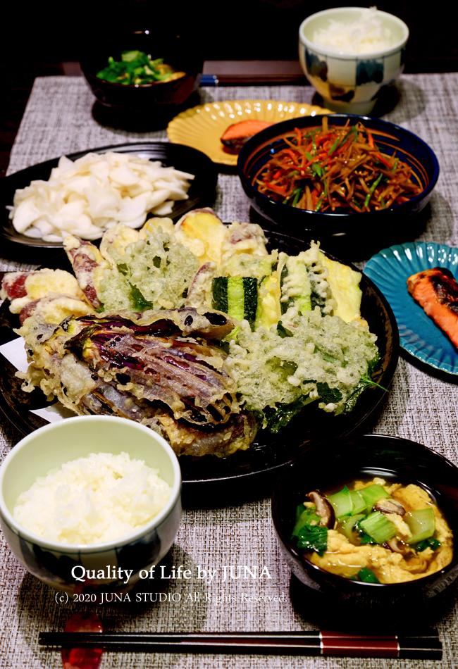 お野菜の天ぷらを楽しんだ晩ごはん♪/娘の成人式の前撮り写真なんだけども・・・