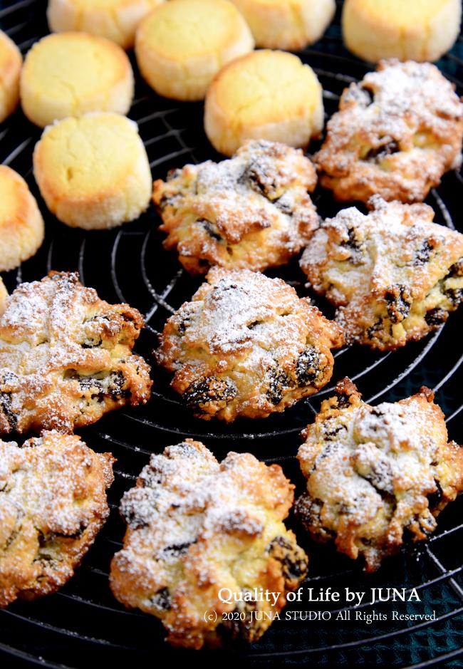「ノンフライオーブントースター」デザート編♪バターなし型なしレーズンたっぷり簡単ドロップクッキー(レシピあり)、クイックブレッド実験他もろもろ(笑)
