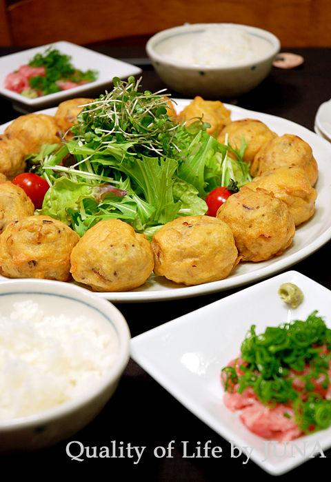 フワフワ豆腐団子のカリカリフリッター
