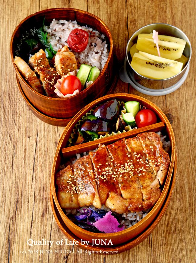 【今日のおべんと】ポークステーキ味噌風味のお弁当
