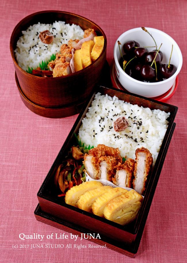 【今日のおべんと】とんかつ弁当 & ニュー弁当箱
