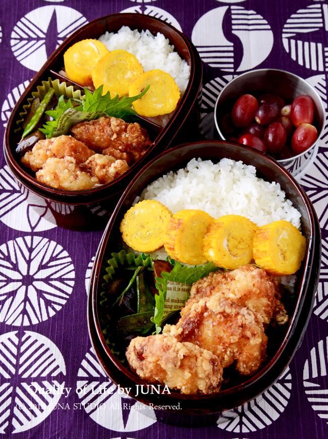 【今日のおべんと】鶏むねの塩から揚げ弁当