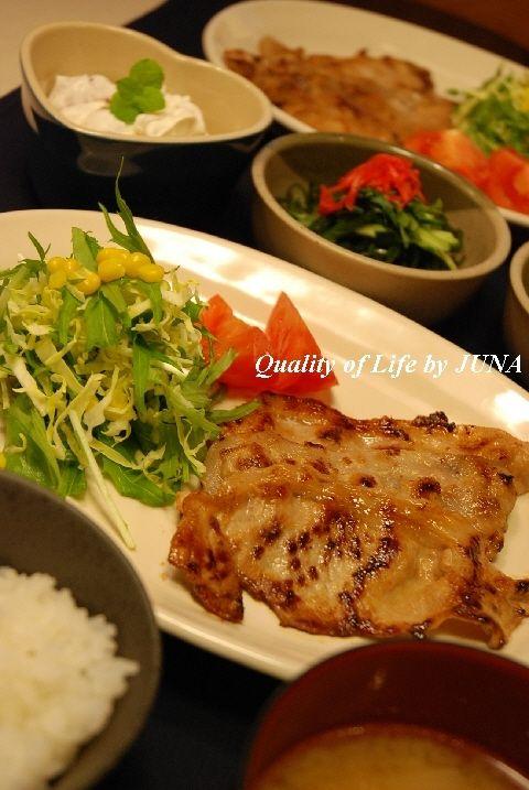 家庭料理の定番☆豚のしょうが焼き定食!!