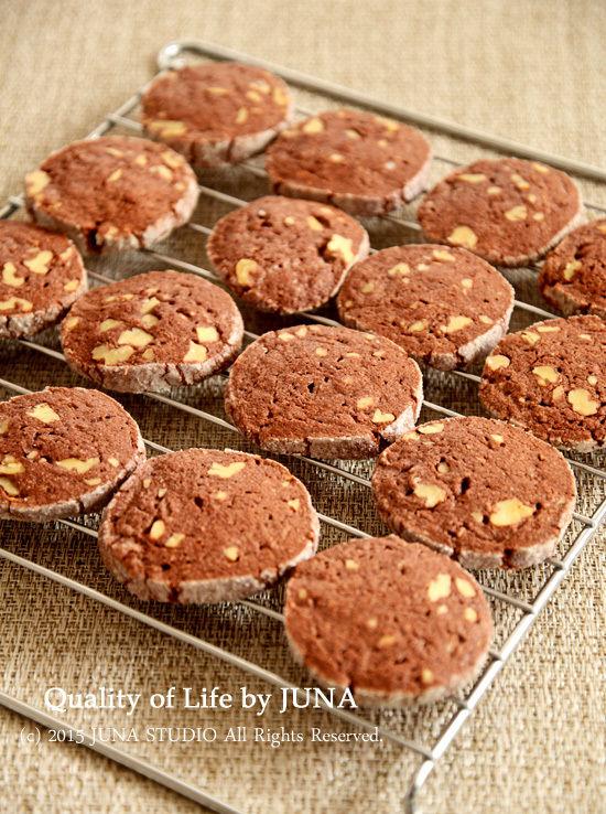 くるみ入りココアクッキーなどの作り方