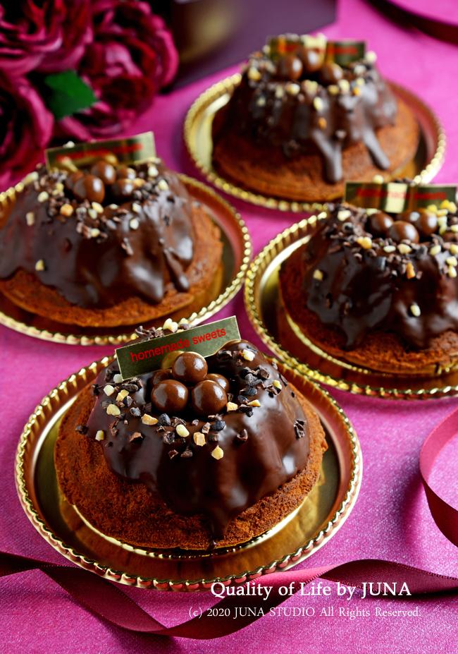 <ミニクグロフ型使用>カフェリーヌ香るバターチョコケーキ/どうぶつの森初心者の私が釣ったもの