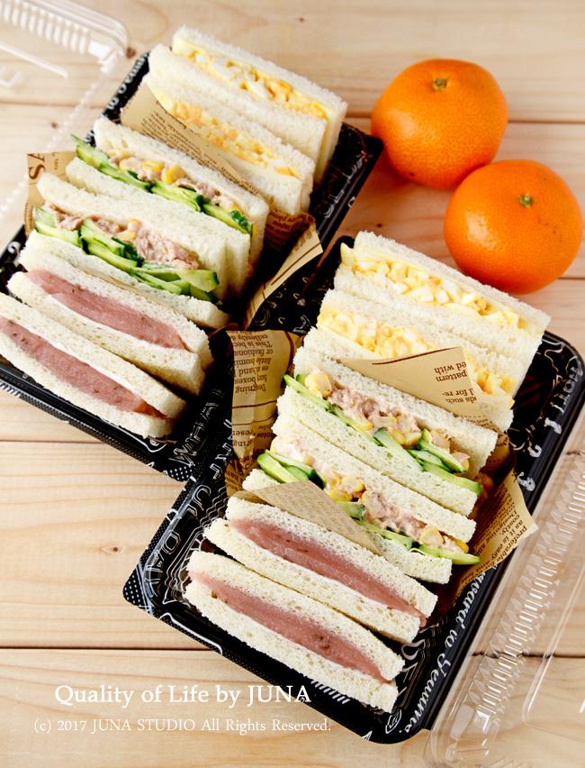 昨日、今日のおべんと ~サンドイッチ弁当、ポークステーキ丼弁当~