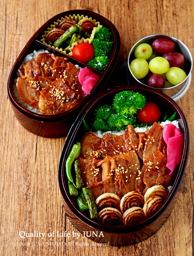 【今日のおべんと】豚バラしょうが焼き丼弁当/ゼルダの伝説終わったよ
