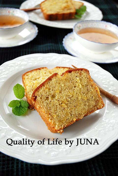 紅茶とオレンジのしっとりパウンドケーキ