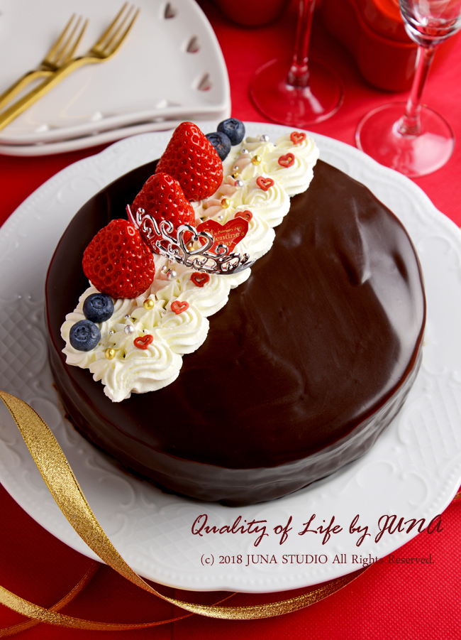 JUNA夫さんに作ったバレンタインケーキ