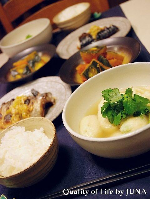 枝豆入り豆腐団子の和スープ 柚子胡椒風味 ほか