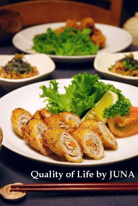 豚ロース肉の野菜巻きフライ