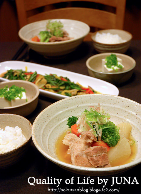 豚バラとお野菜の和風煮込みスープ など