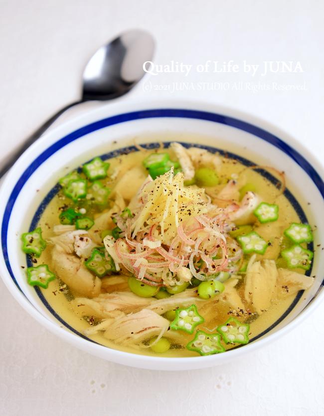 ささみと枝豆とオクラのひんやりスープ などこれからの季節におすすめのスープ特集
