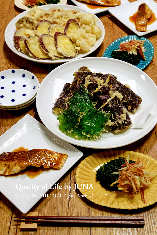 久々に天ぷら揚げました♪ 生のりもおいしい季節/昨日noteを更新してます。