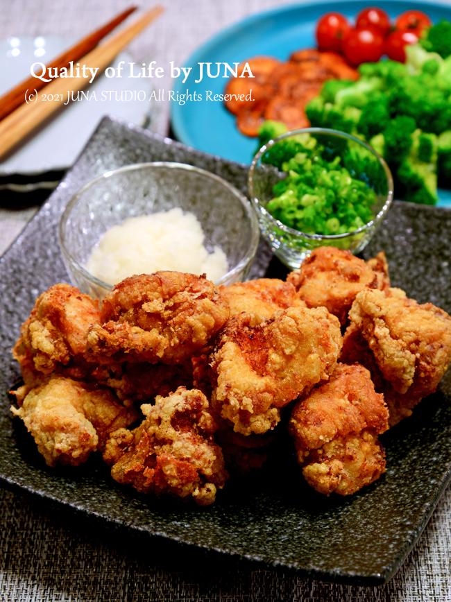 鶏むね肉のさっぱり梅風味から揚げ おろし添え