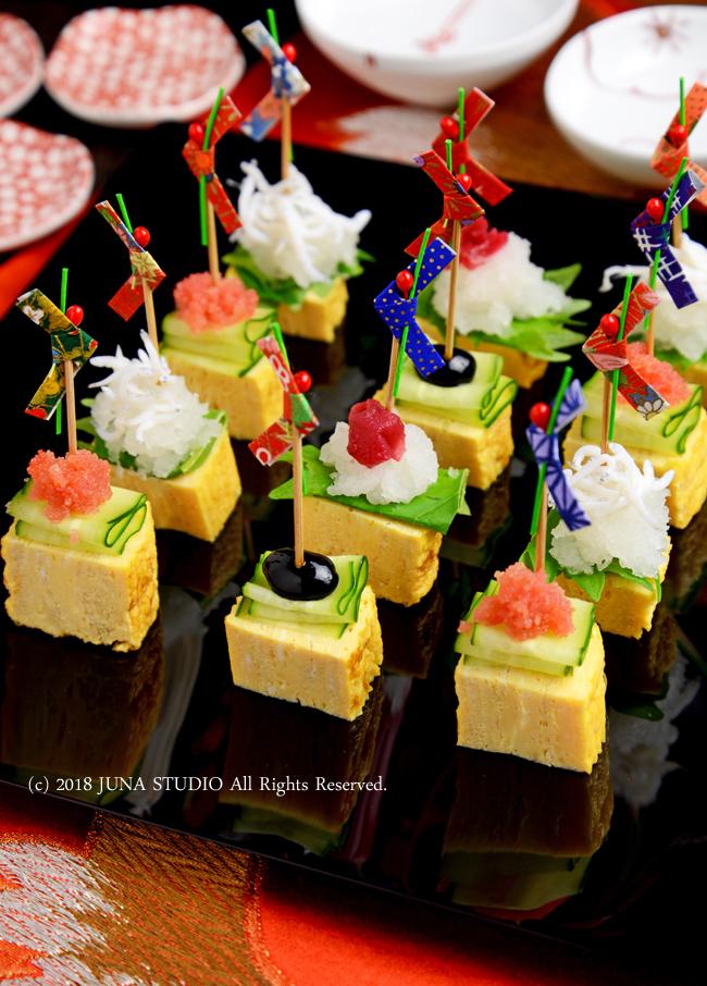 【お正月に簡単卵料理】だし巻き卵の華やかピンチョス/昨日の晩ご飯/カフェ納め