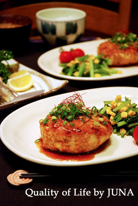 さっぱりヘルシー☆鶏バーグ(ムネ肉挽き肉)