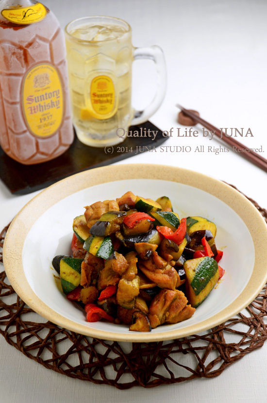 【簡単】夏野菜と鶏肉のカレー炒め