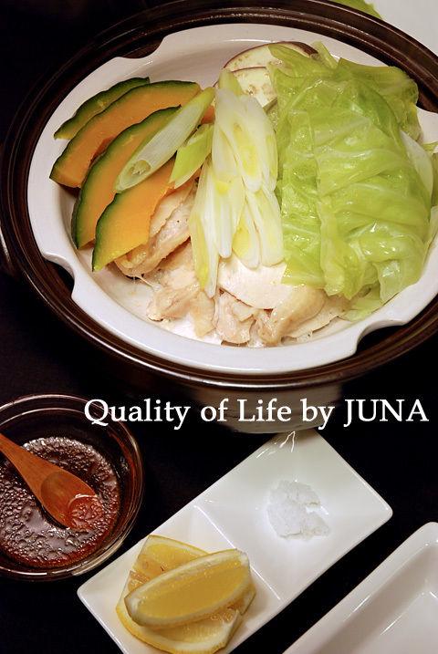蒸し野菜&鶏を、簡単&おいしいタレで♪