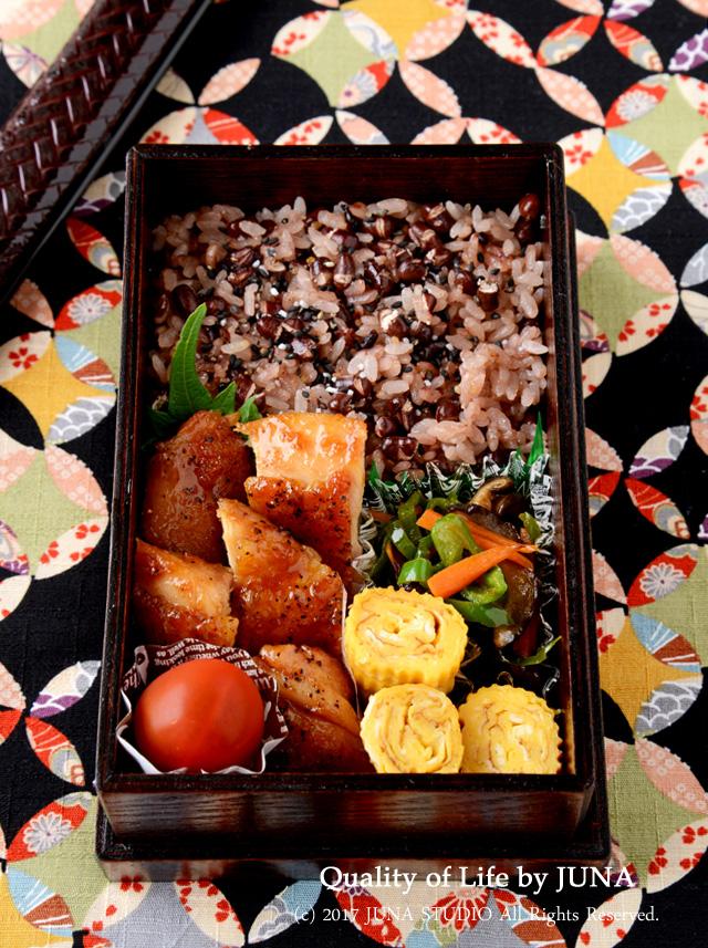 【今日のおべんと】鶏のしょうが焼き弁当