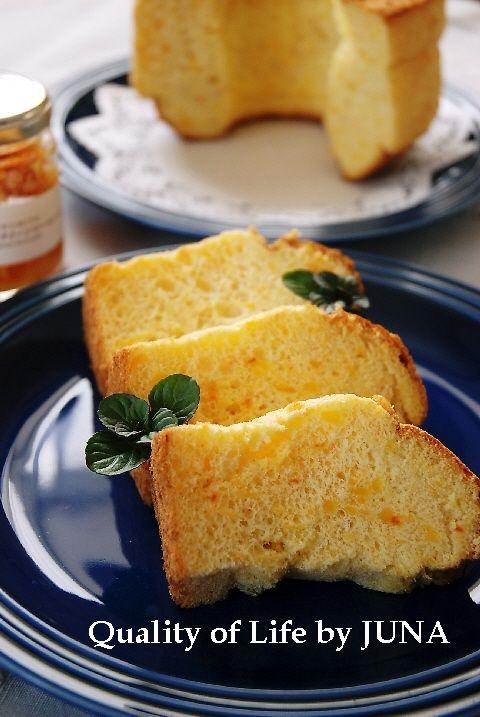 オレンジマーマレードのシフォンケーキ