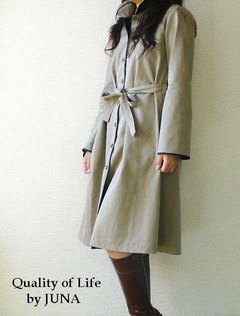 ハンドメイド 2008 秋の作品 丸襟コートワンピ♪
