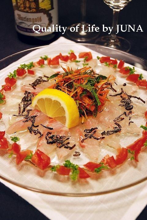「洋&エスニック」おうちde至福の鯛のカルパッチョ風