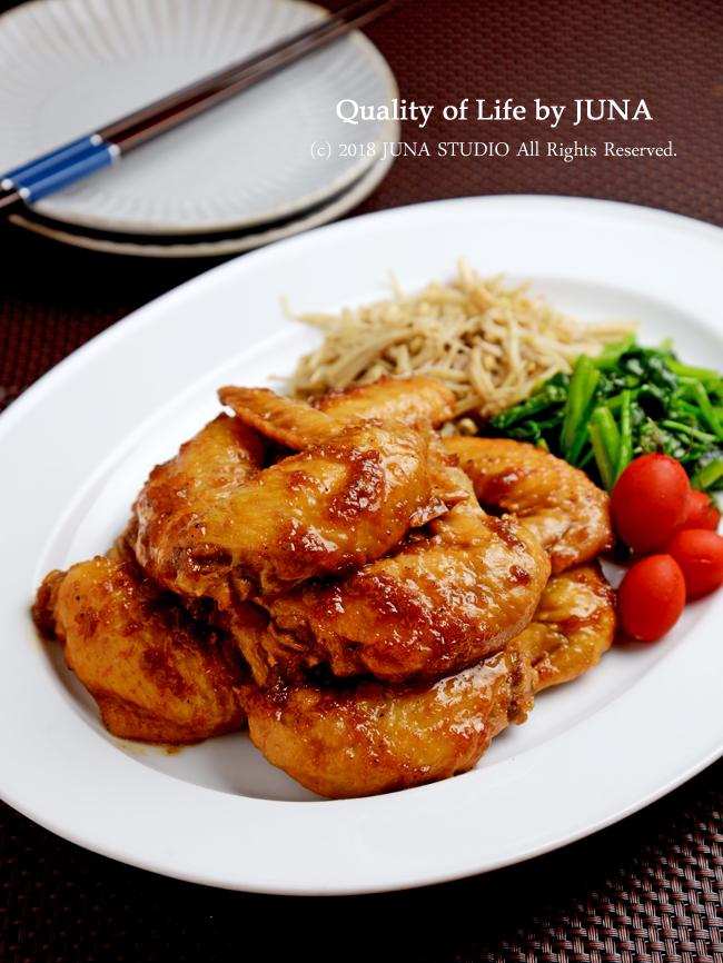 【レシピ】おろしりんご&タマネギで手羽の簡単照り煮 / ホルモン補充療法3ヶ月目の診察報告