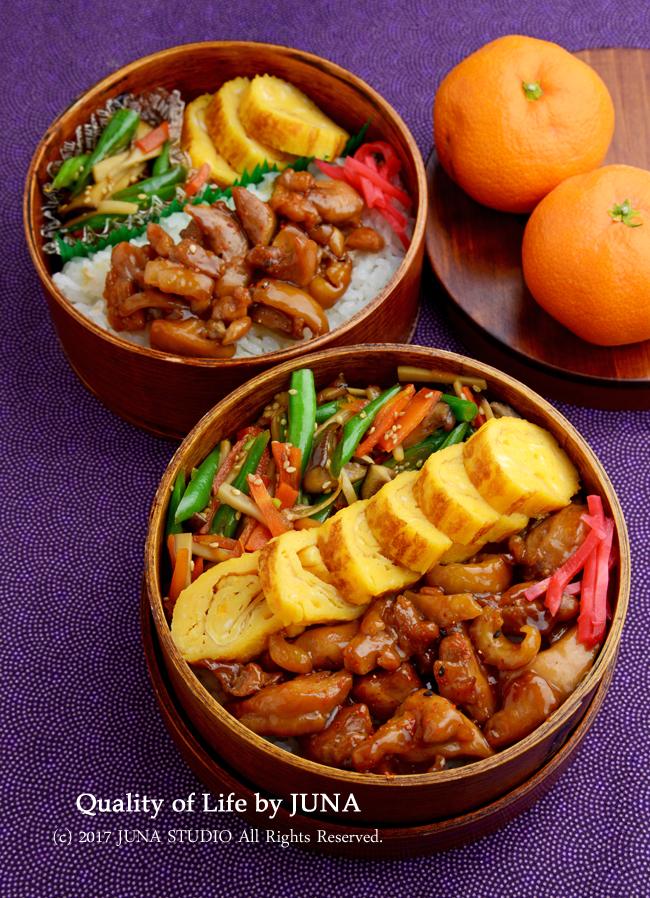 【昨日と今日のおべんと】鶏照り焼き弁当/から揚げ弁当