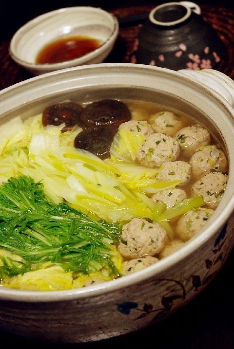 風邪予防に 肉団子と葱たっぷりのお鍋