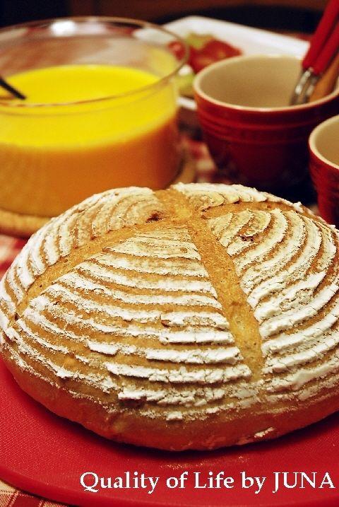 濃厚かぼちゃスープとパン