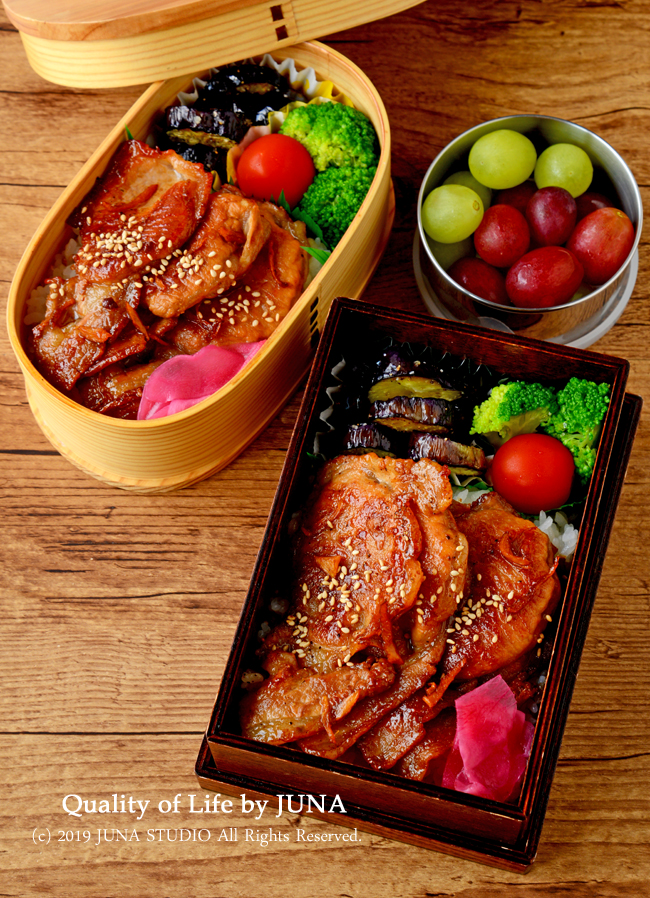 【今日のおべんと】豚のしょうが焼き丼弁当