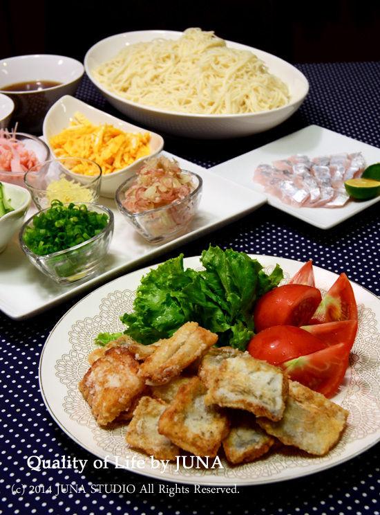 太刀魚の塩竜田揚げ(レモン塩入り)など