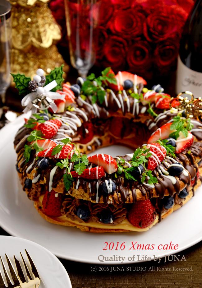 2016 クリスマスケーキ チョコパリブレスト