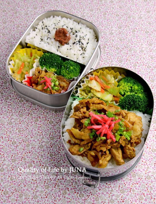 【今日のおべんと】カレー豚丼