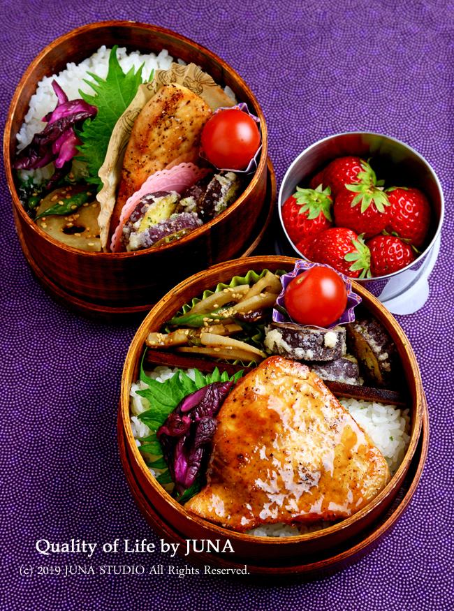 【今日のおべんと】めかじきのバターしょうがステーキ弁当/今日は通院日だったのでいろいろ焦った(^^;)