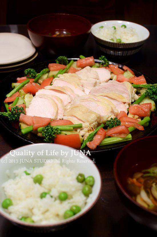 昆布煮鶏☆ねぎ塩梅タレ添え