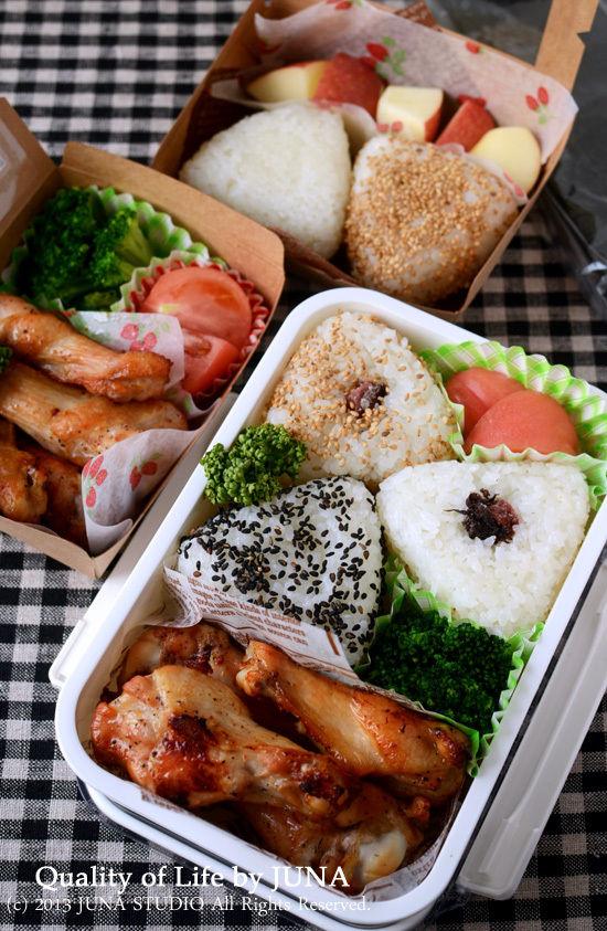 チキン&おにぎりのお弁当