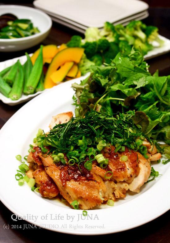 鶏むね肉のソテー☆梅ソース