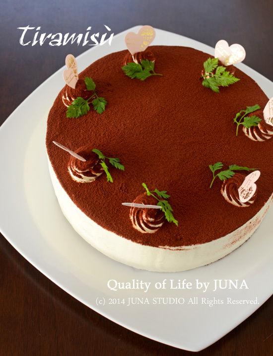 久々に作ったティラミス風ムースケーキ